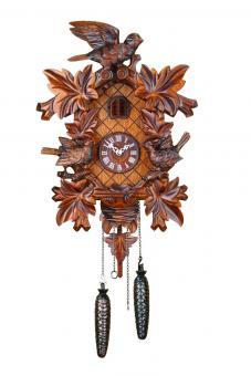 Quarz-Kuckucksuhr Dreivogel-Nest 40 cm