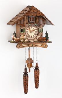 Quarzuhr Schwarzwaldhaus 25 cm