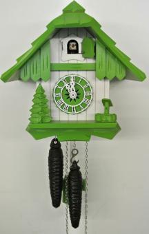 Schwarzwaldhaus 21 cm grün/weiss