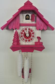 Schwarzwaldhaus 21 cm pink/weiß