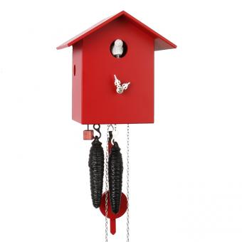 Kuckucksuhr Vogelhaus Rot 18 cm