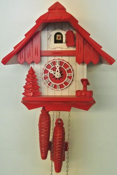 Schwarzwaldhaus 21 cm rot/weiss